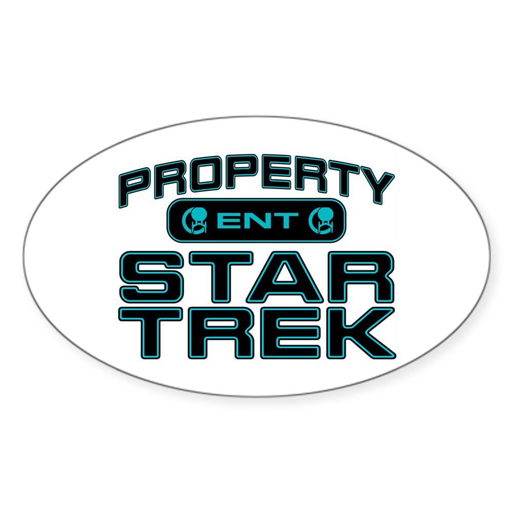 Blue Property Star Trek - ENT Oval Sticker