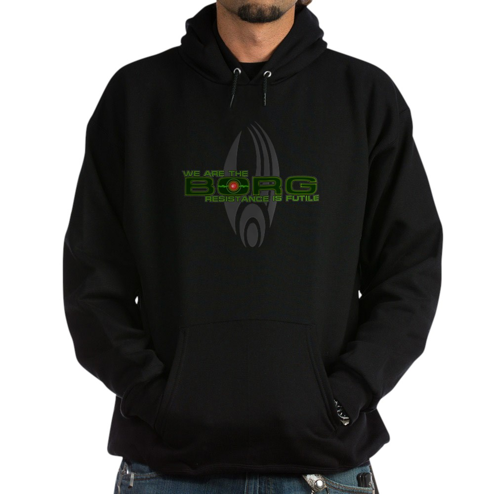 We Are the Borg - Resistance is Futile Dark Hoodie