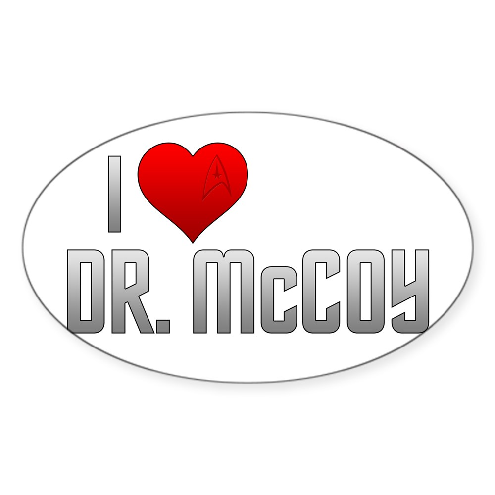 I Heart Dr. McCoy Oval Sticker