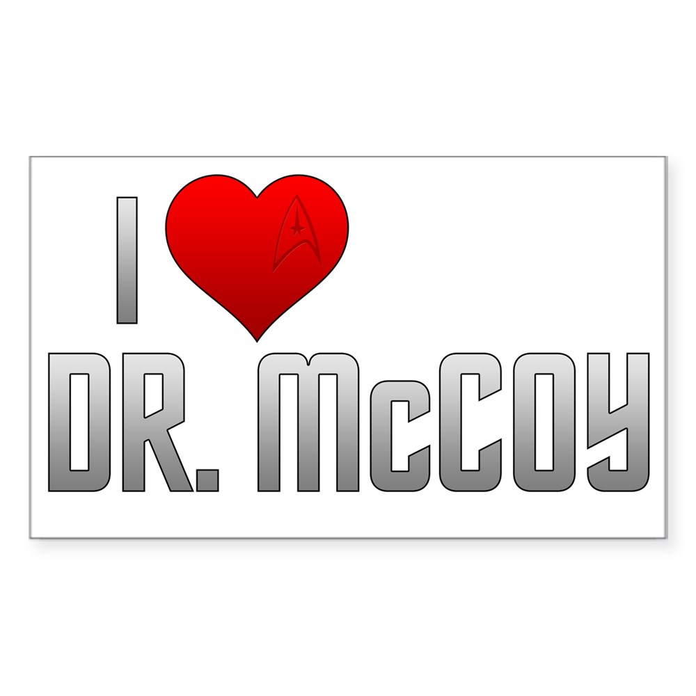 I Heart Dr. McCoy Rectangle Sticker