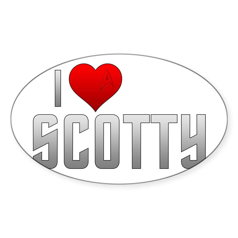 I Heart Scotty Oval Sticker