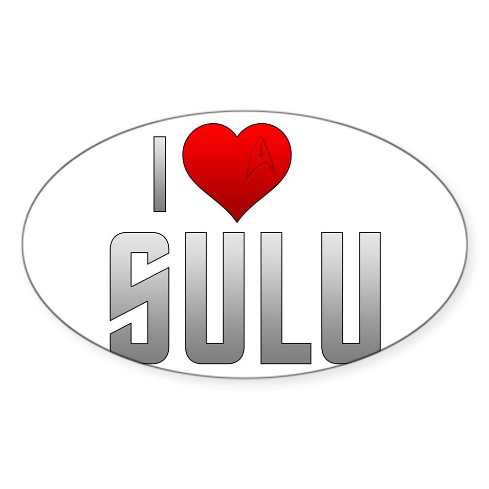 I Heart Sulu Oval Sticker