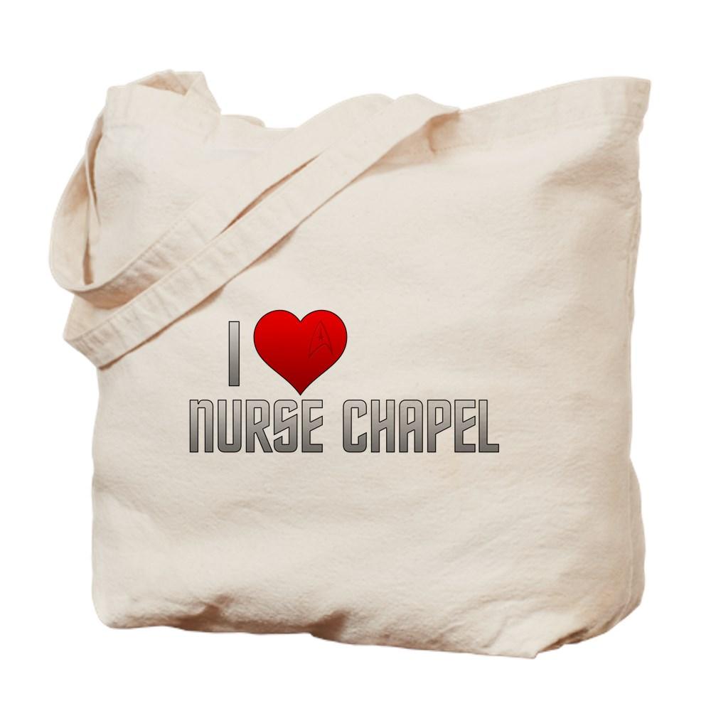 I Heart Nurse Chapel Tote Bag