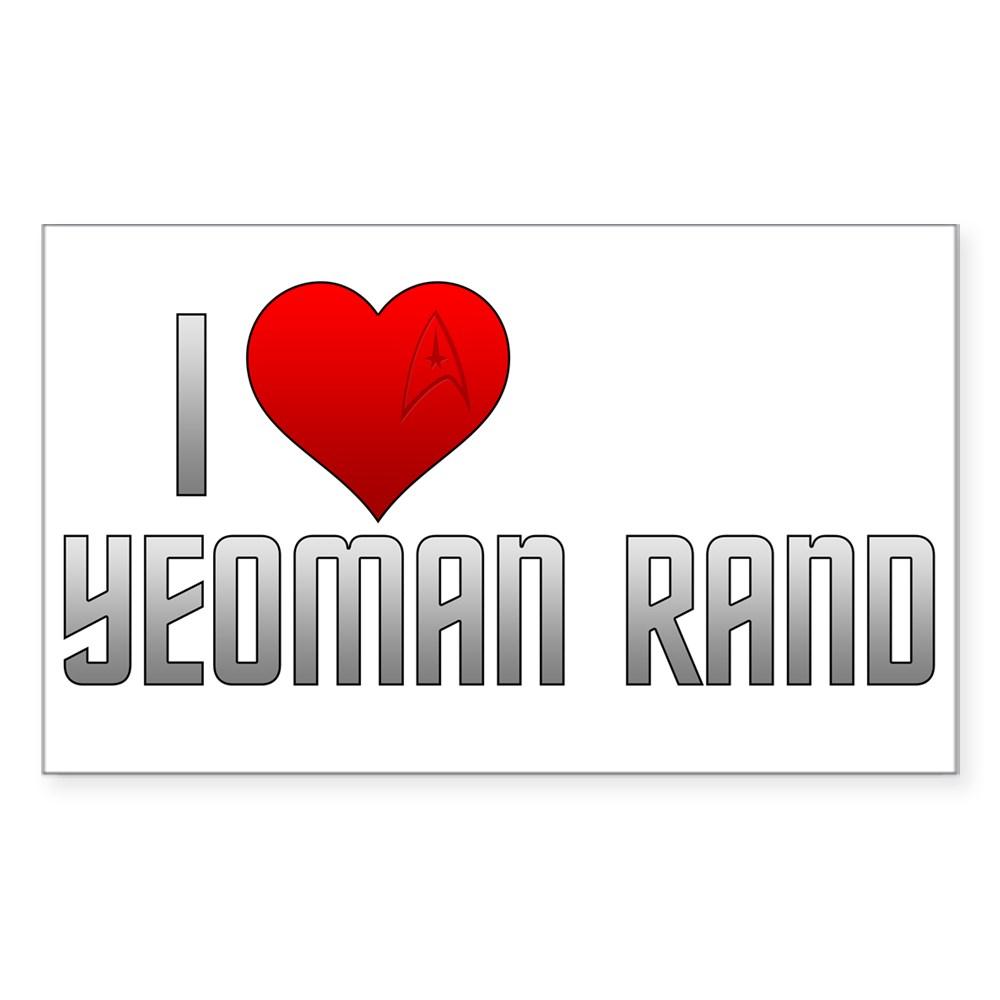 I Heart Yeoman Rand Rectangle Sticker