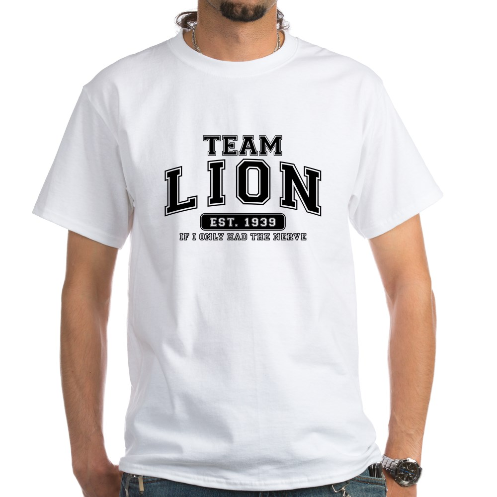 Team Lion - If I Only Had the Nerve White T-Shirt