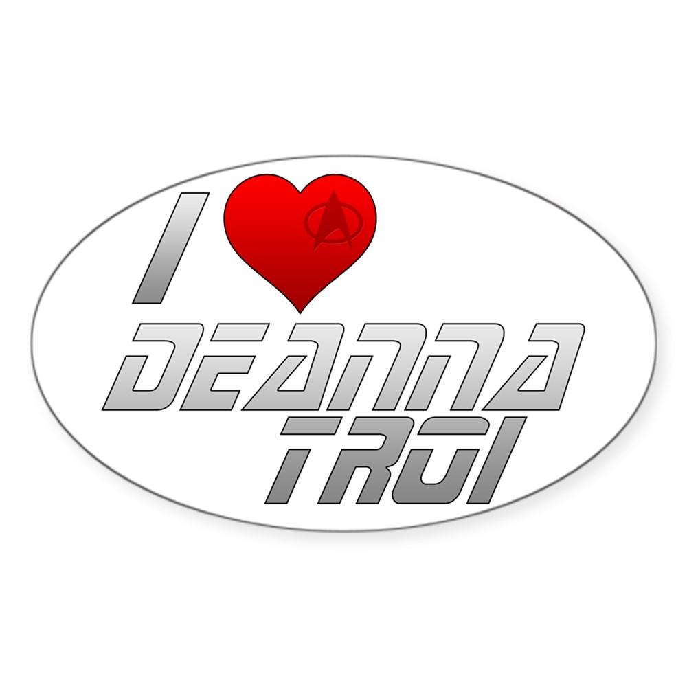 I Heart Deanna Troi Oval Sticker