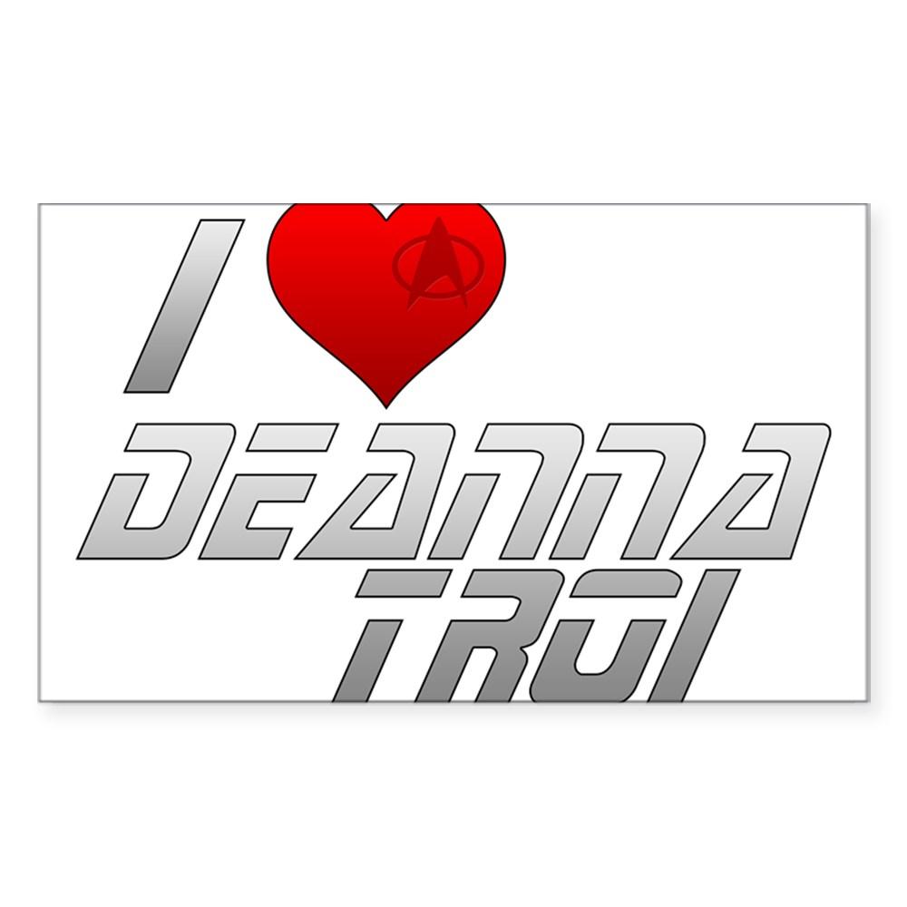I Heart Deanna Troi Rectangle Sticker