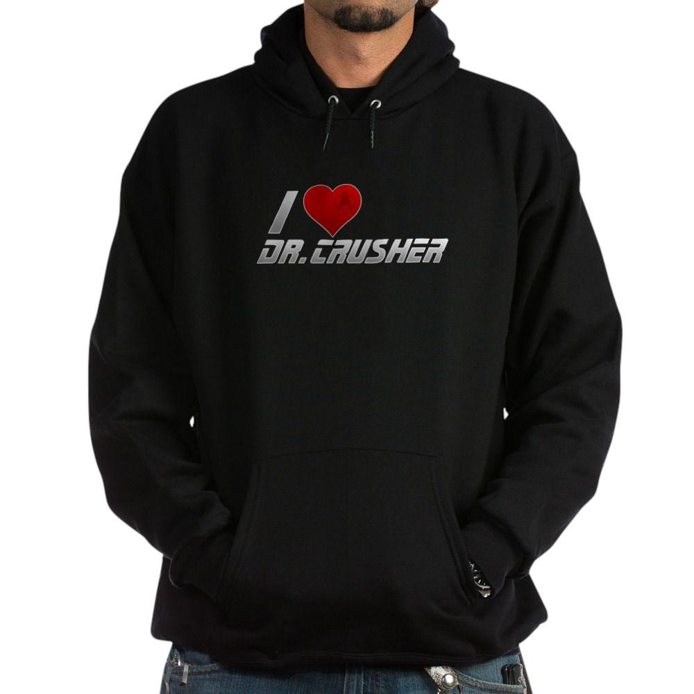I Heart Dr. Crusher Dark Hoodie