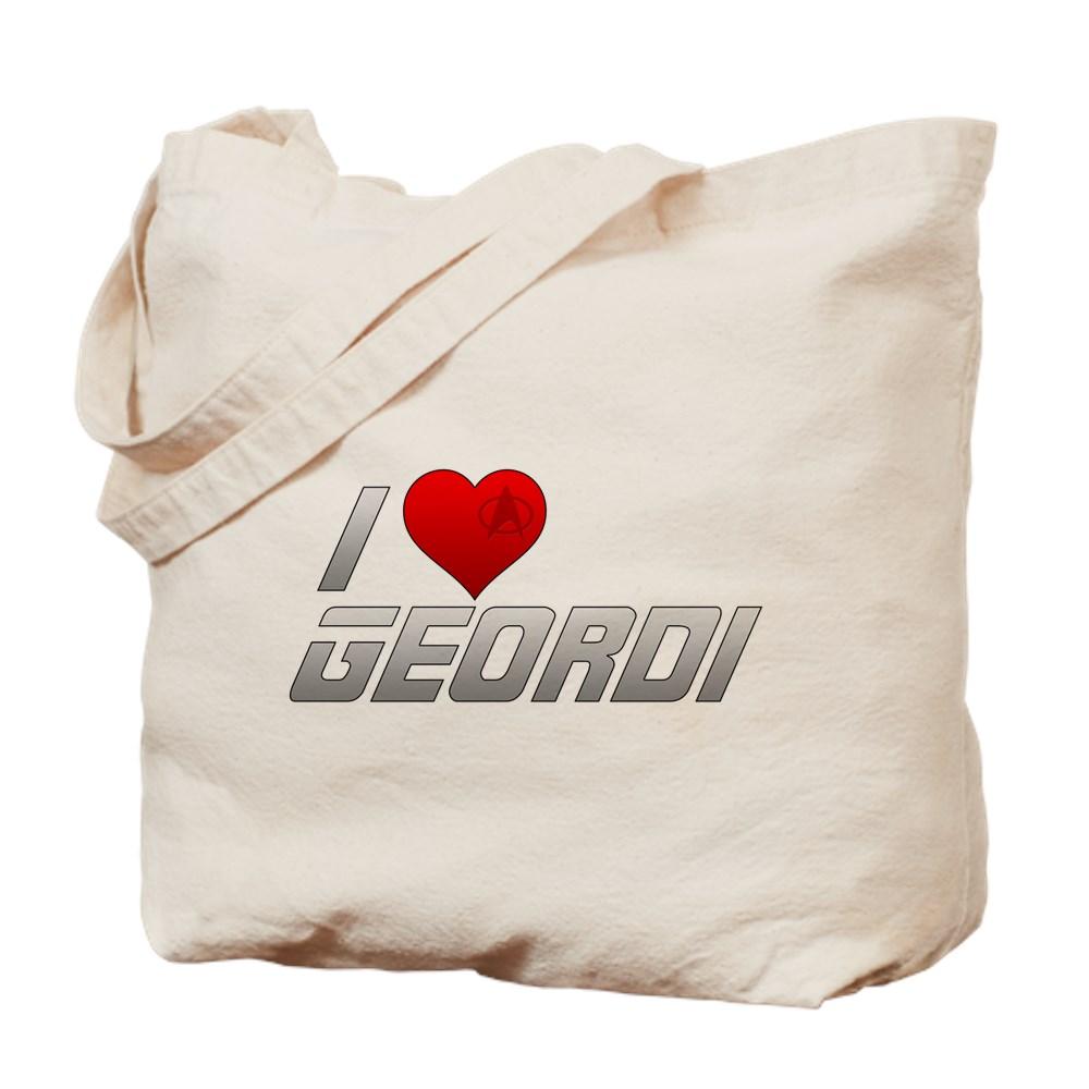 I Heart Geordi Tote Bag