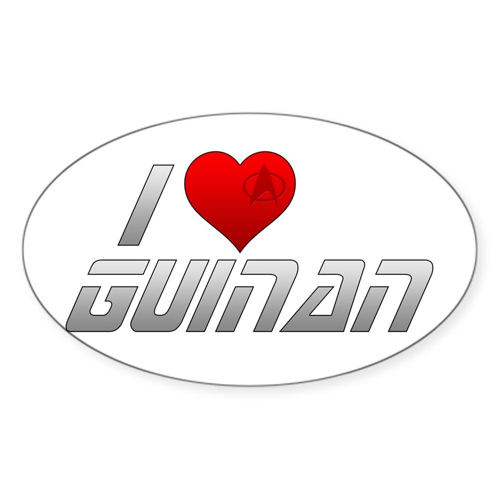 I Heart Guinan Oval Sticker