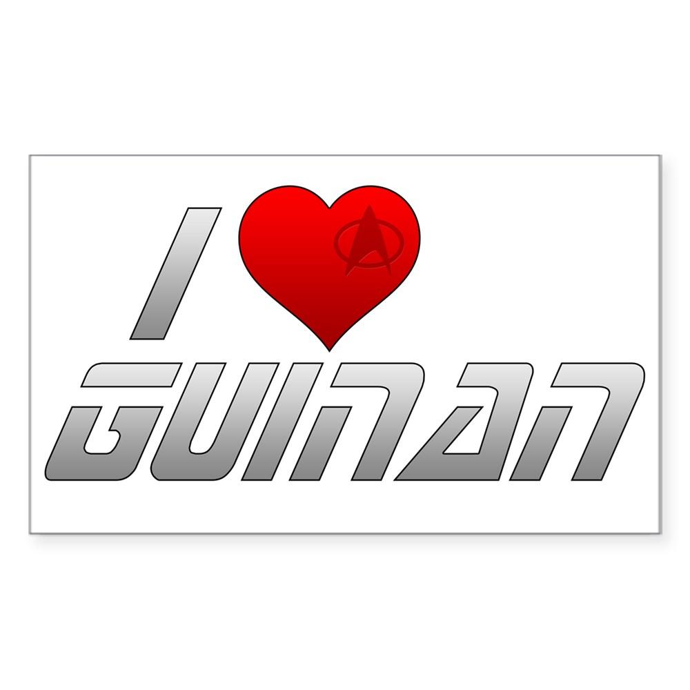 I Heart Guinan Rectangle Sticker