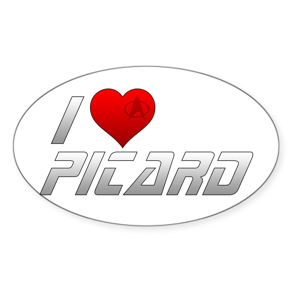 I Heart Picard Oval Sticker