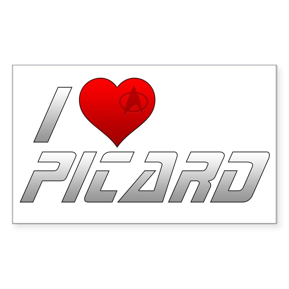 I Heart Picard Rectangle Sticker
