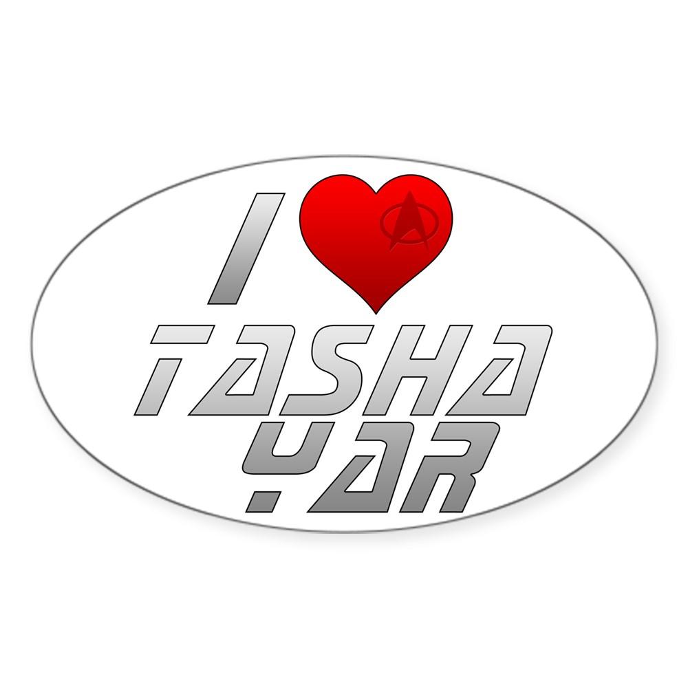 I Heart Tasha Yar Oval Sticker