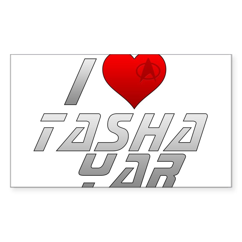 I Heart Tasha Yar Rectangle Sticker