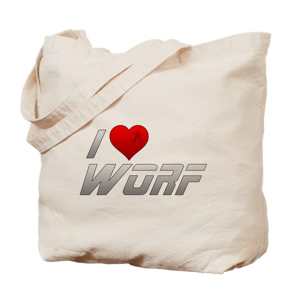 I Heart Worf Tote Bag