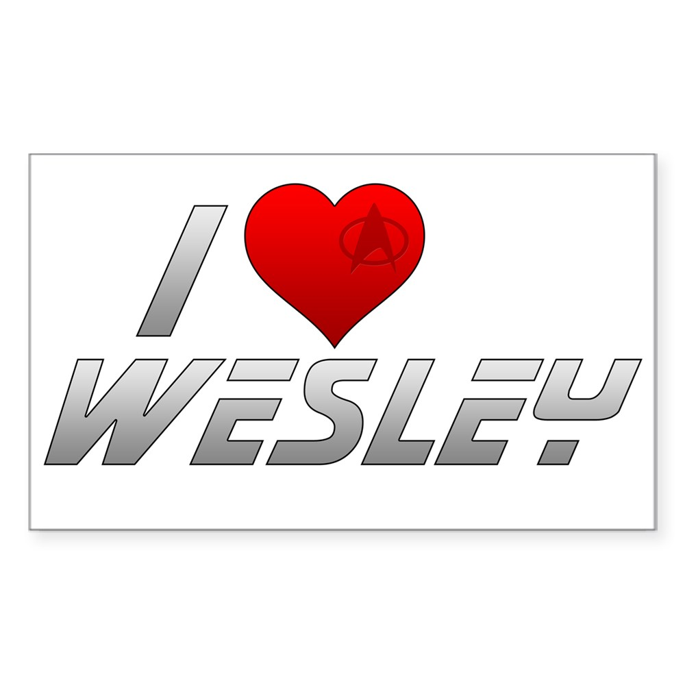 I Heart Wesley Rectangle Sticker