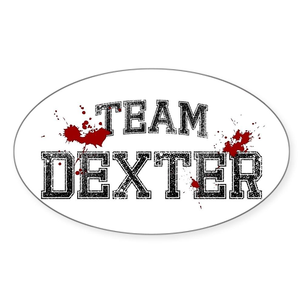 Team Dexter Oval Sticker