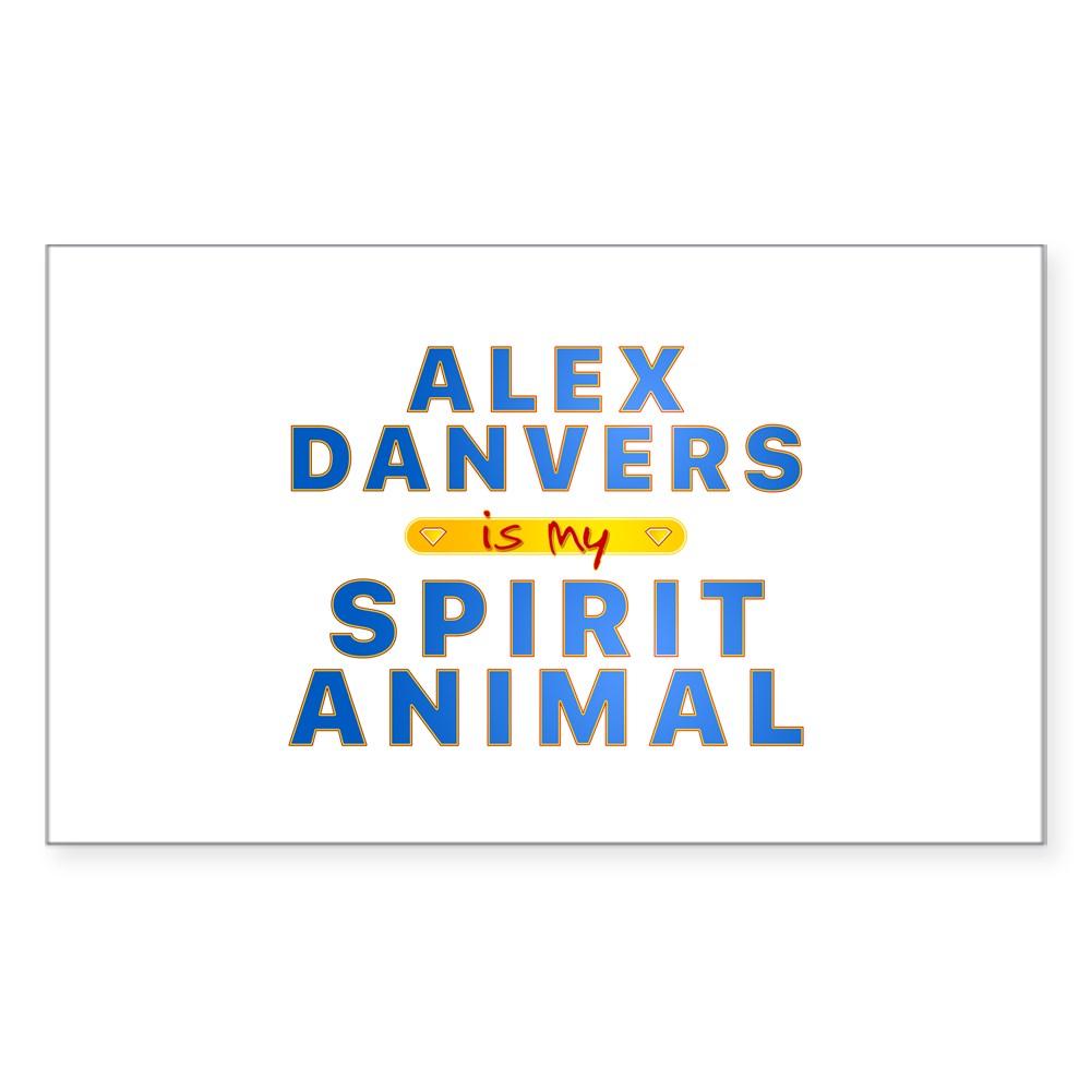 Alex Danvers is my Spirit Animal Rectangle Sticker