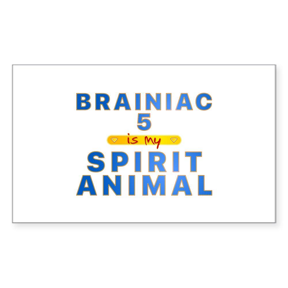 Brainiac 5 is my Spirit Animal Rectangle Sticker