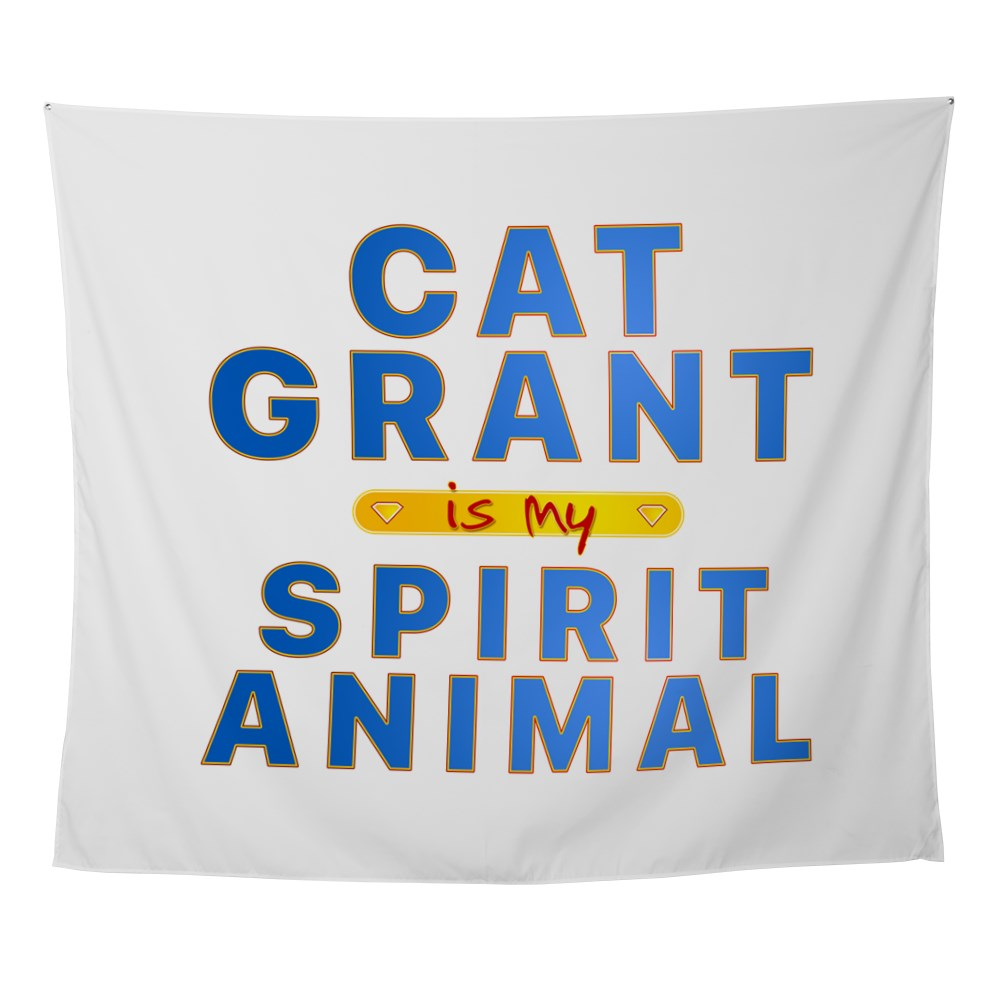 Cat Grant is my Spirit Animal Wall Tapestry