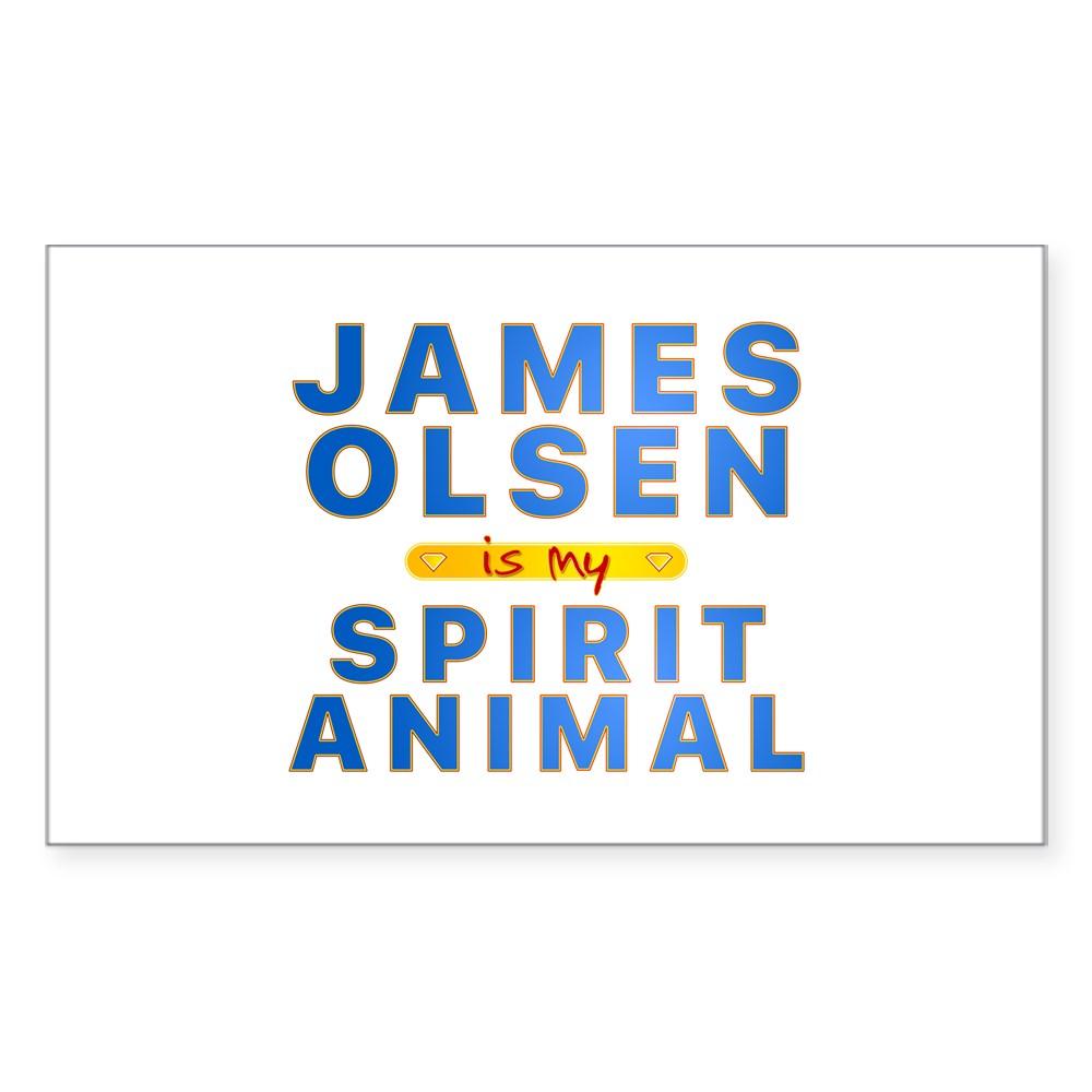 james olsen spirit animal Rectangle Sticker