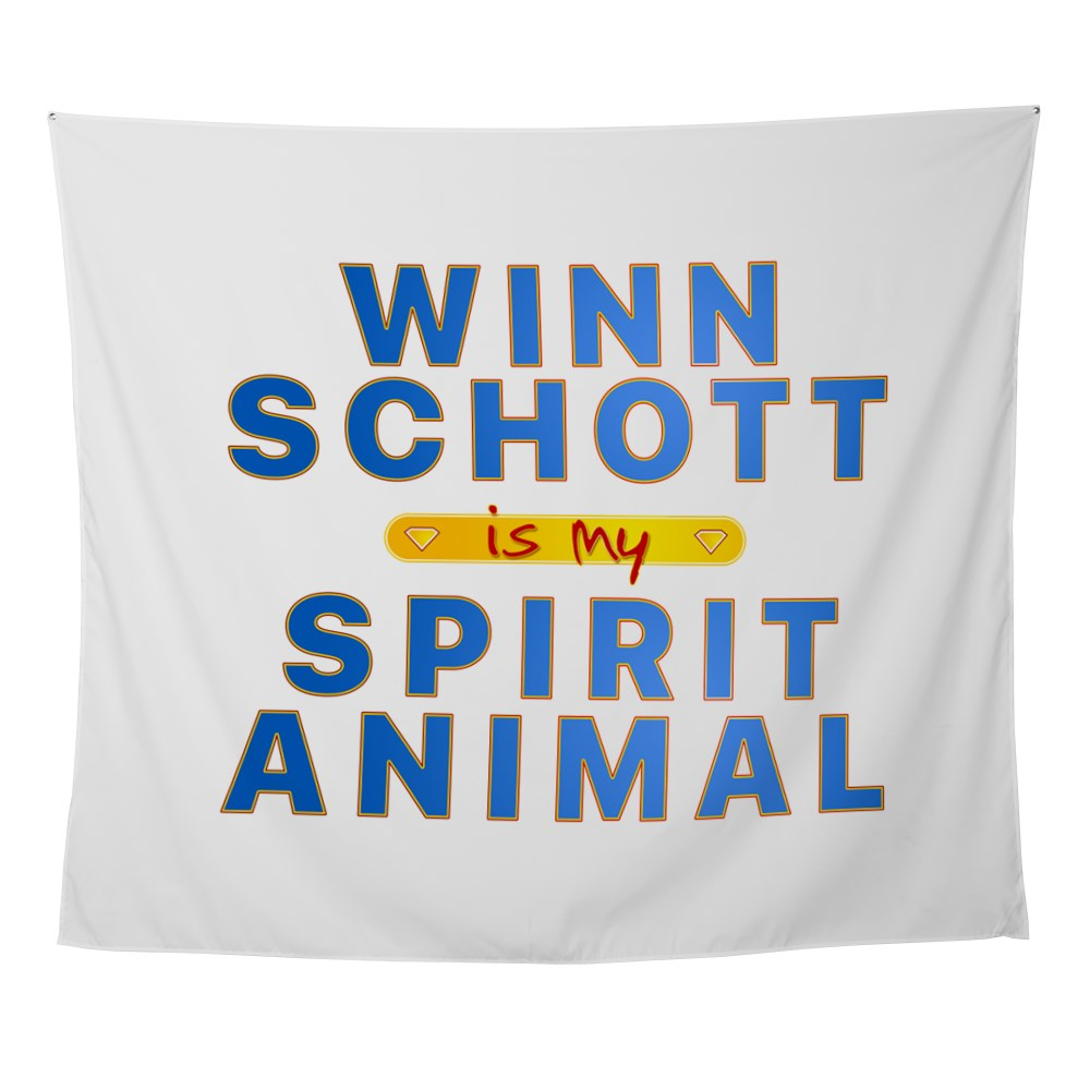 Winn Schott is my Spirit Animal Wall Tapestry