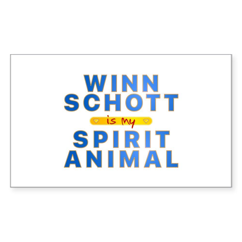 Winn Schott is my Spirit Animal Rectangle Sticker