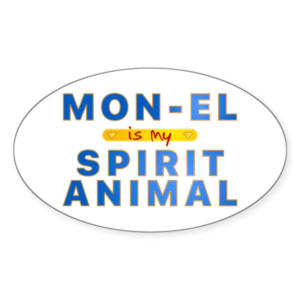 Mon-El is my Spirit Animal Oval Sticker