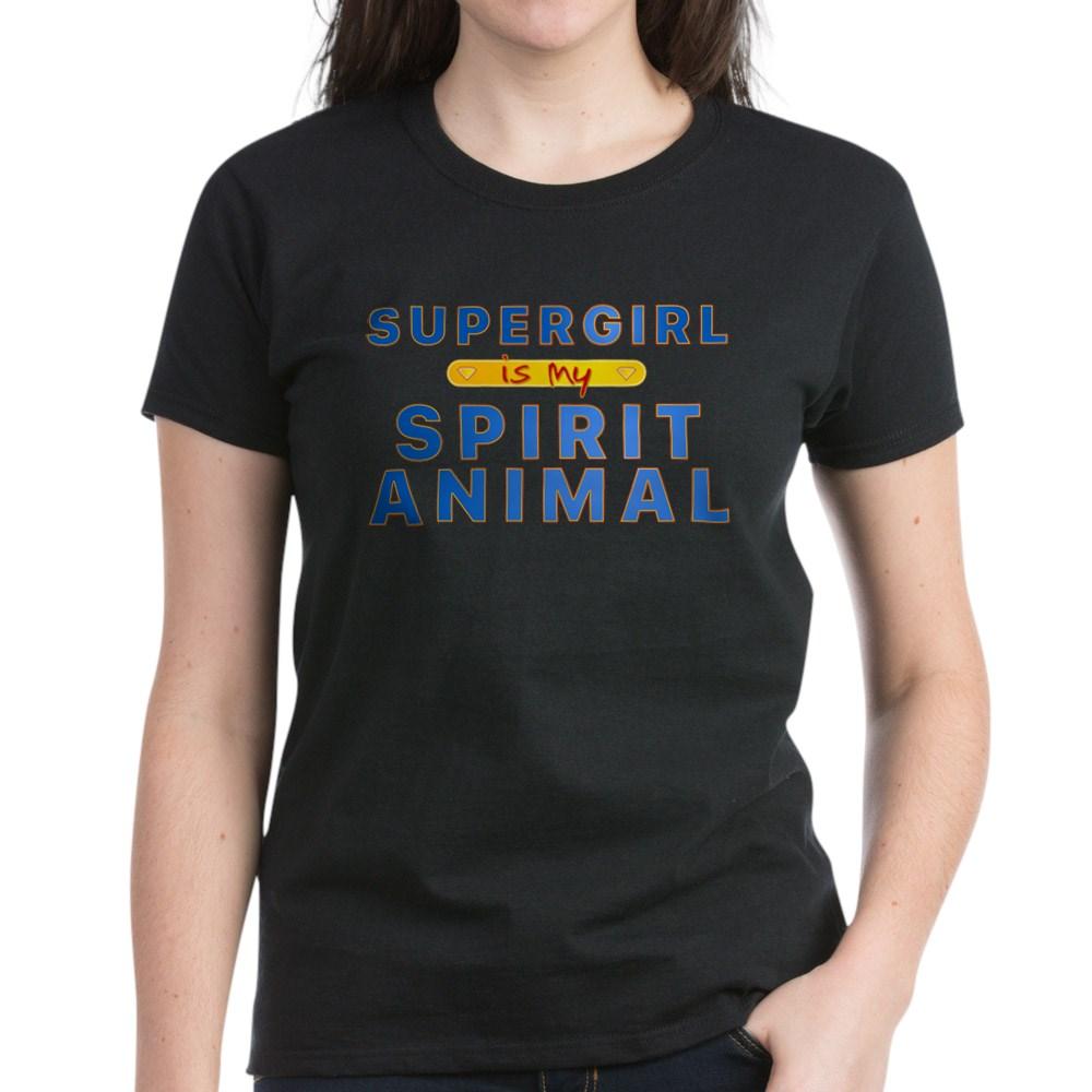 Supergirl is my Spirit Animal Women's Dark T-Shirt
