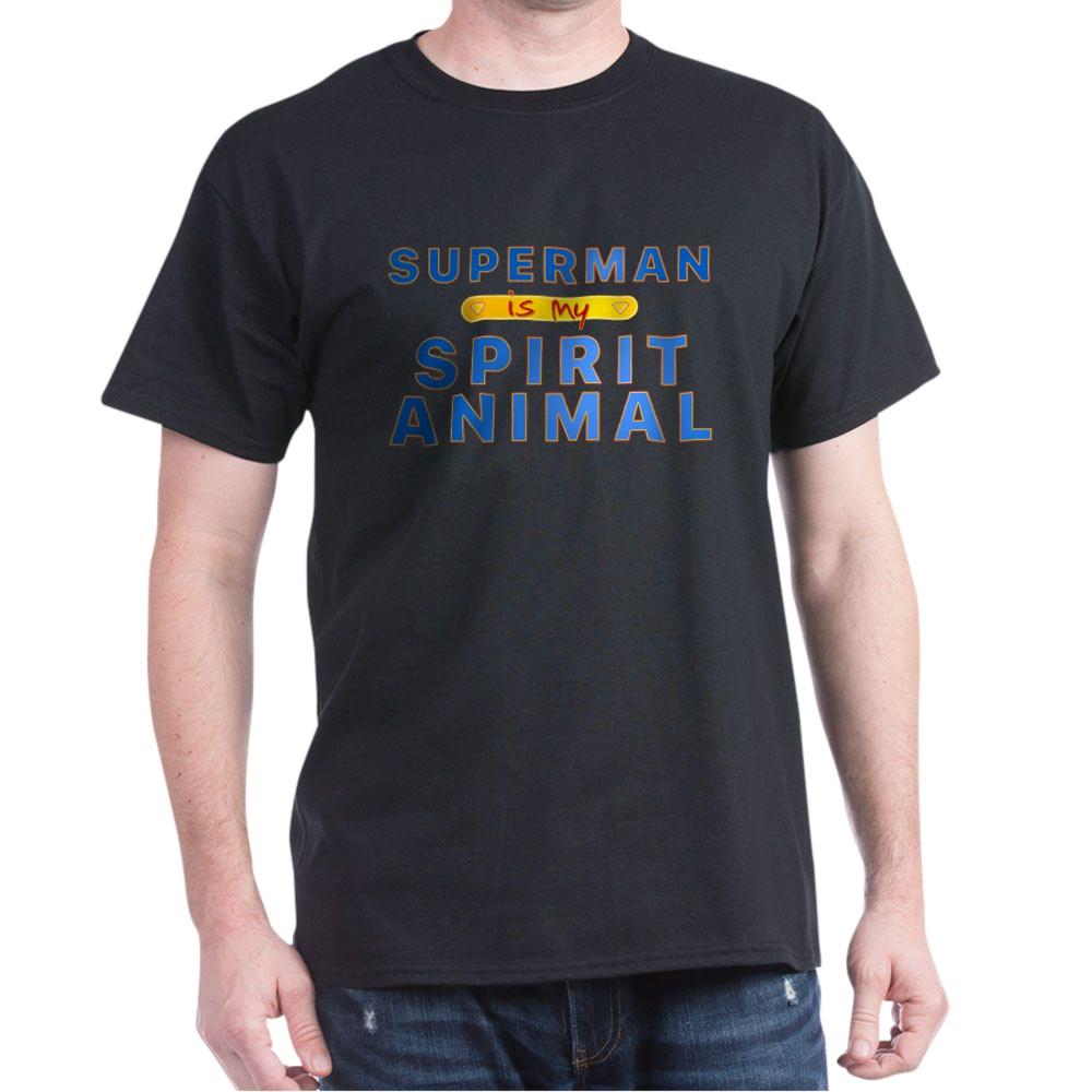 Superman is my Spirit Animal Dark T-Shirt