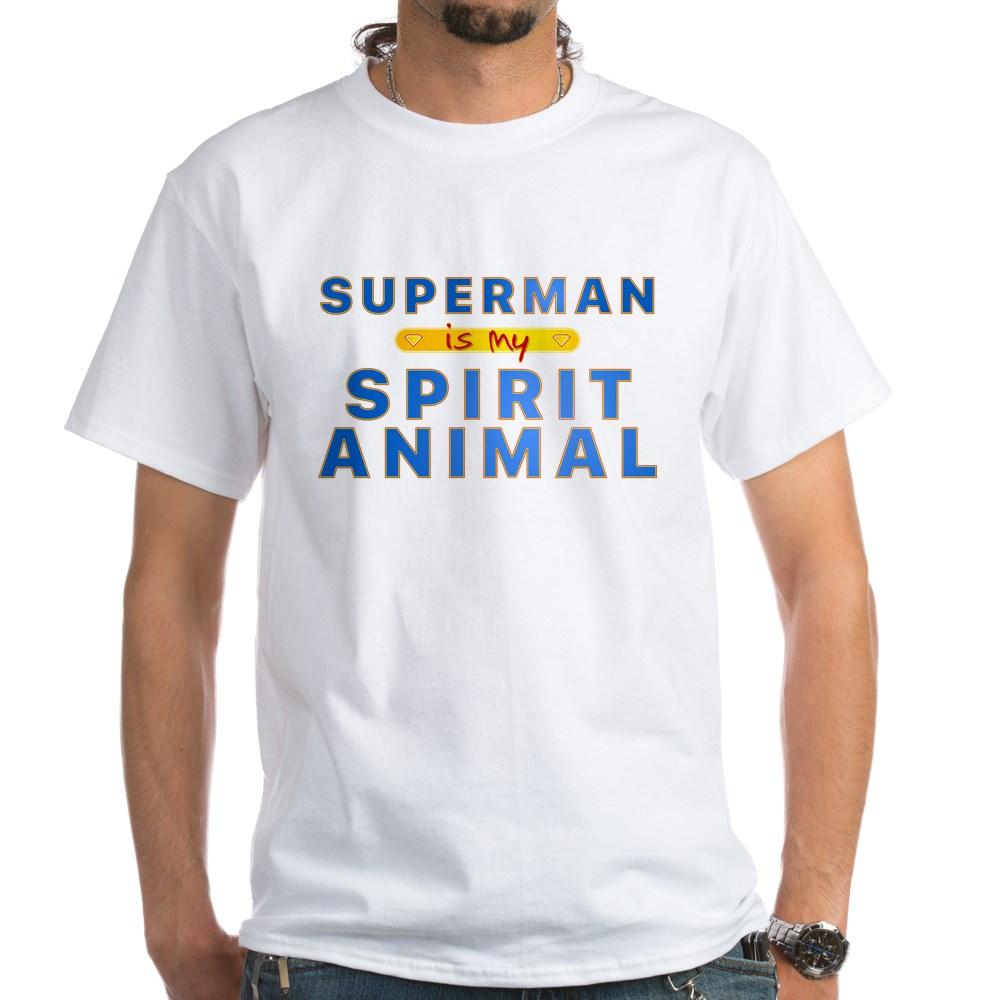 Superman is my Spirit Animal White T-Shirt