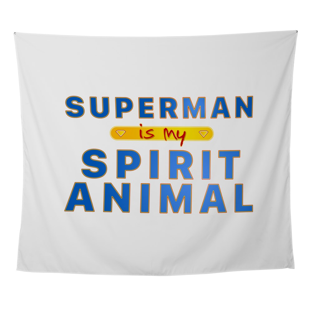 Superman is my Spirit Animal Wall Tapestry