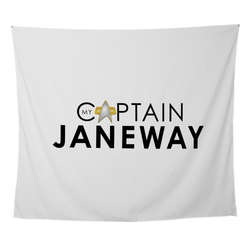 My Captain: Janeway Wall Tapestry