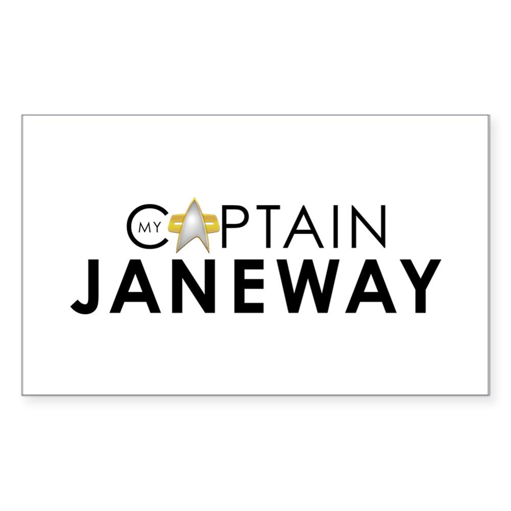 My Captain: Janeway Rectangle Sticker
