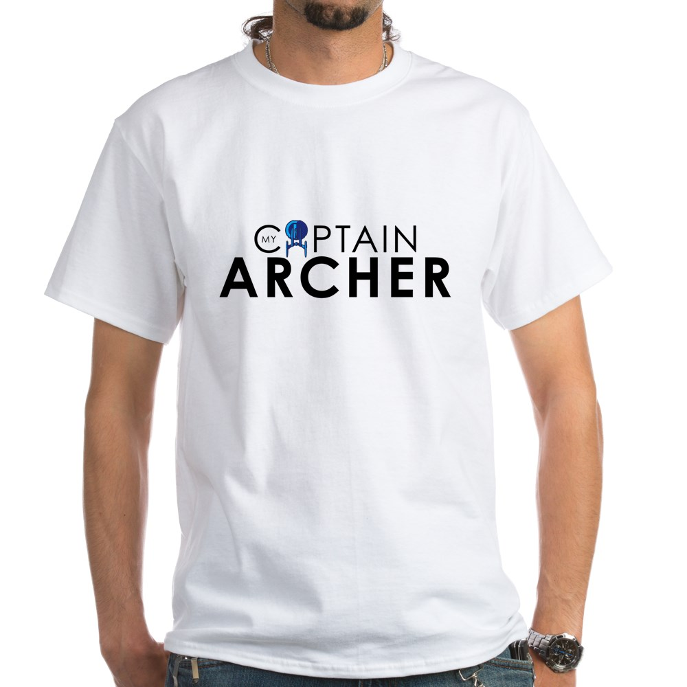 My Captain: Archer White T-Shirt