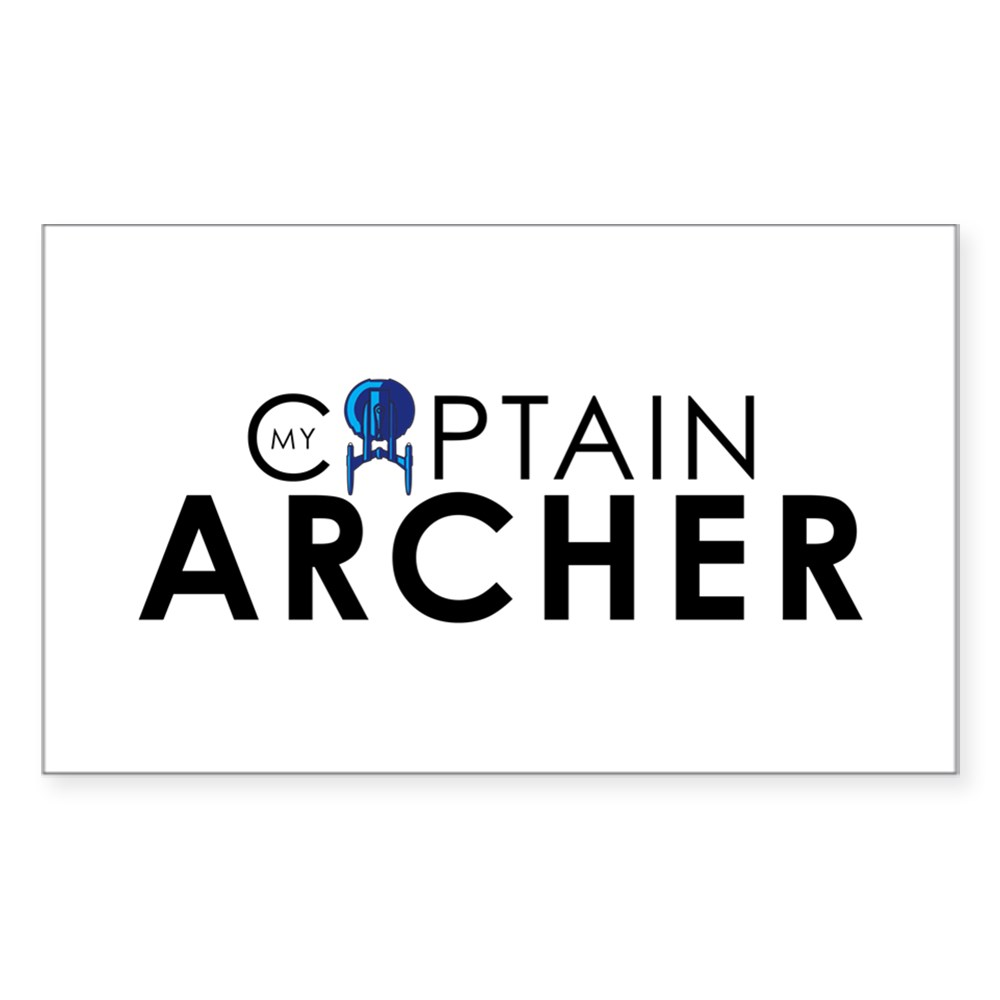 My Captain: Archer Rectangle Sticker