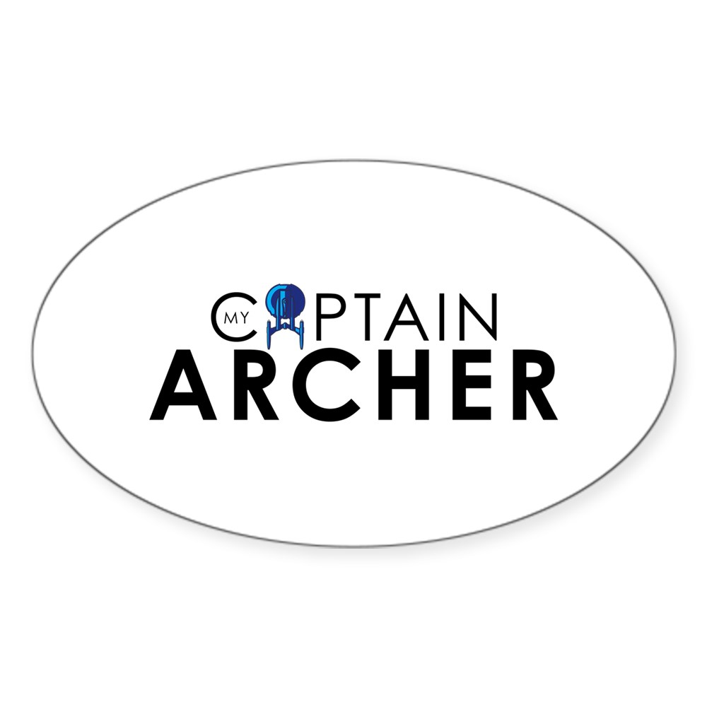 My Captain: Archer Oval Sticker