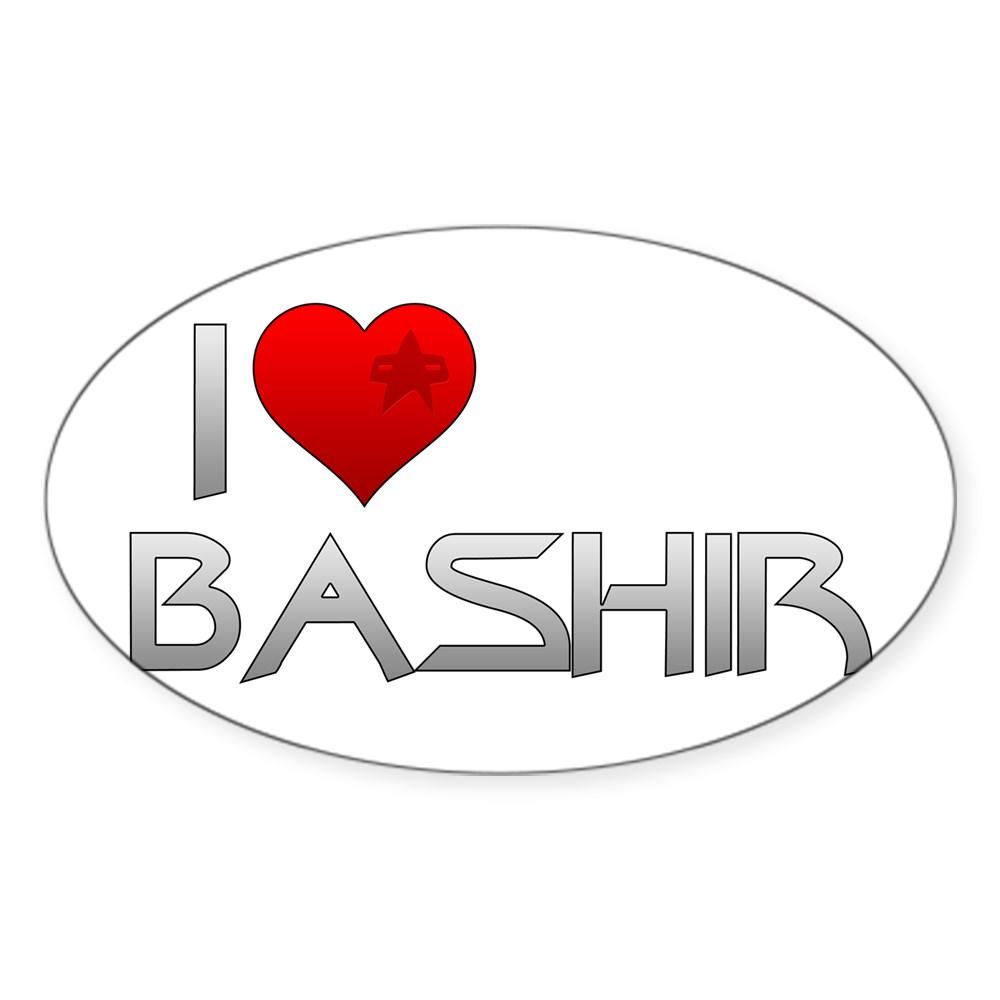 I Heart Bashir Oval Sticker
