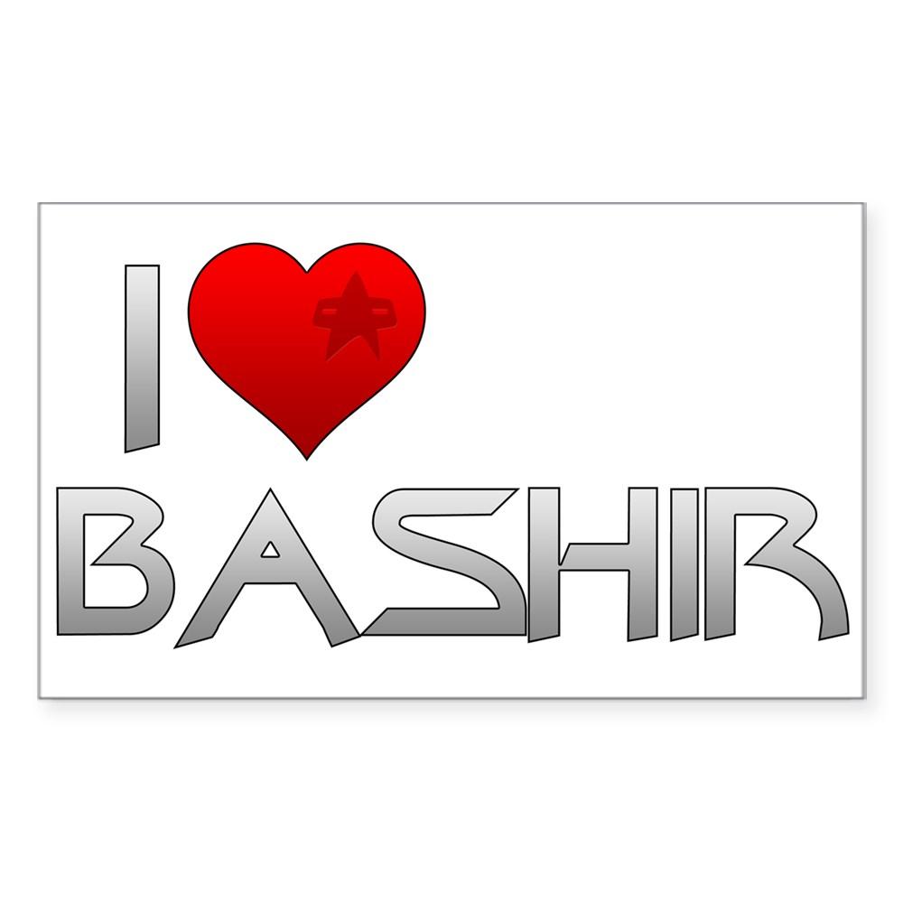 I Heart Bashir Rectangle Sticker