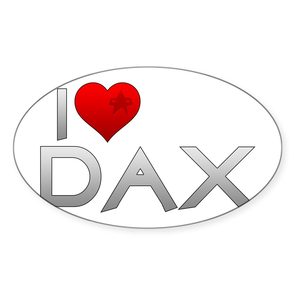 I Heart Dax Oval Sticker