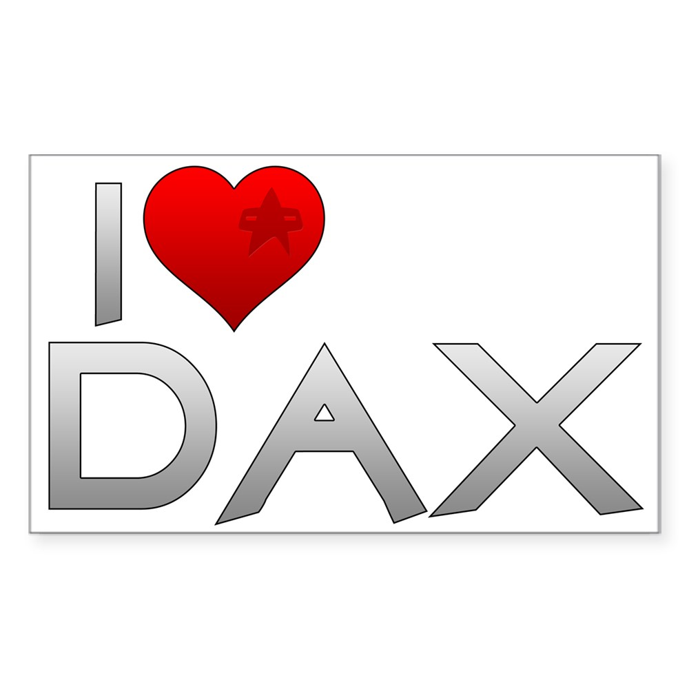 I Heart Dax Rectangle Sticker