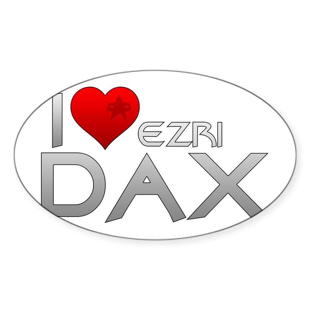 I Heart Ezri Dax Oval Sticker