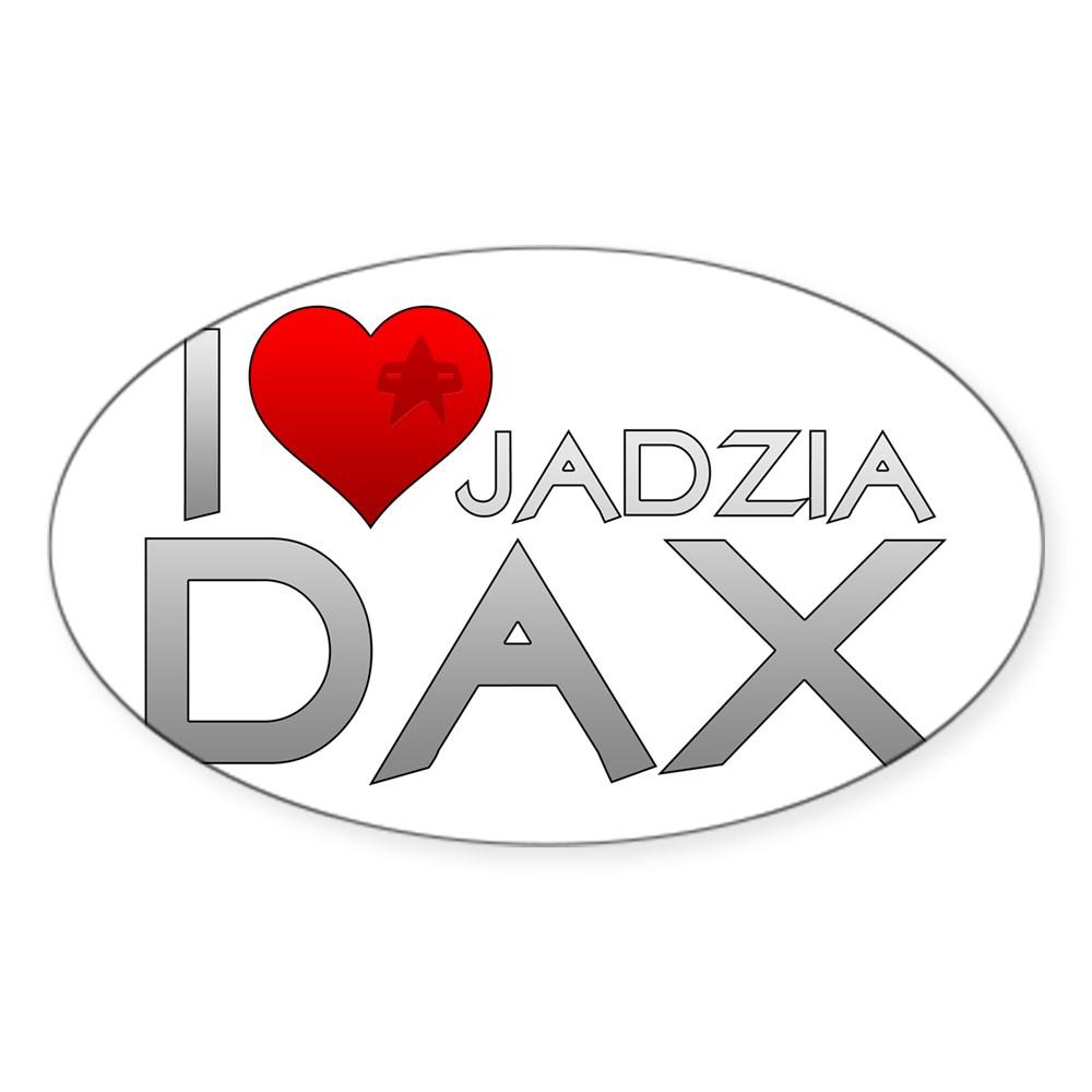 I Heart Jadzai Dax Oval Sticker