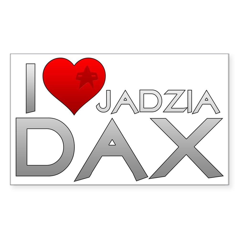 I Heart Jadzai Dax Rectangle Sticker