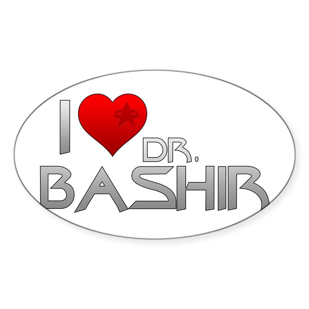 I Heart Dr. Bashir Oval Sticker