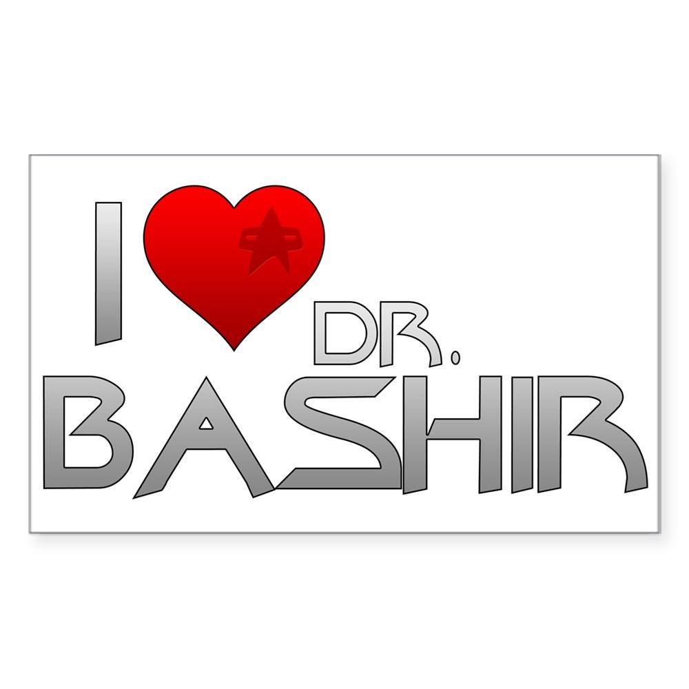 I Heart Dr. Bashir Rectangle Sticker