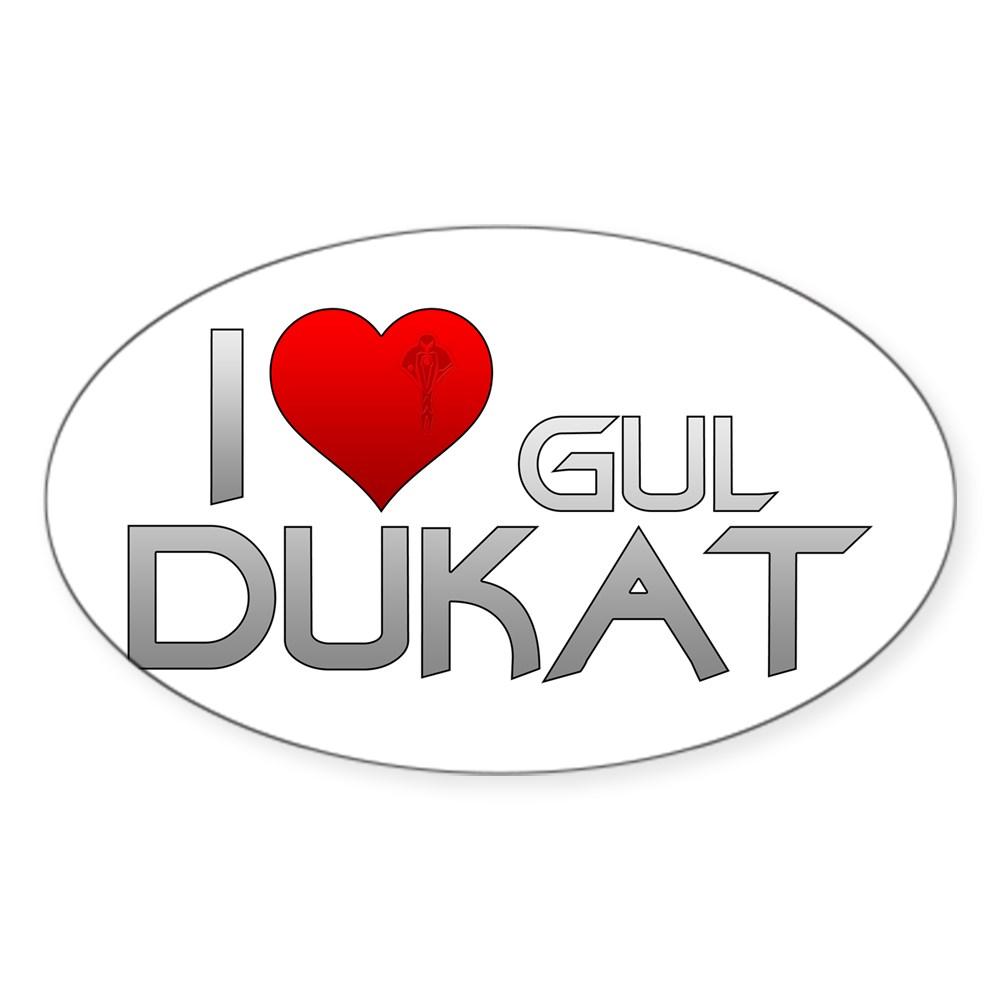 I Heart Gul Dukat Oval Sticker