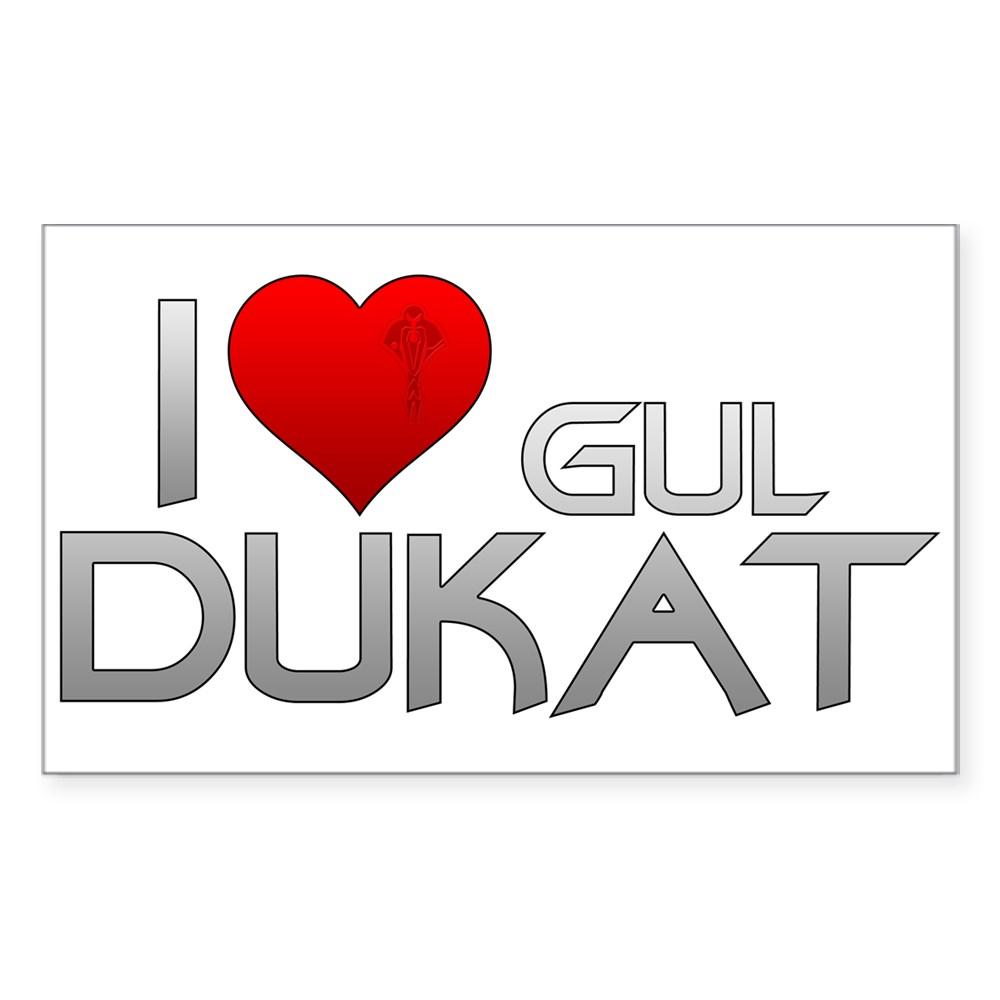 I Heart Gul Dukat Rectangle Sticker