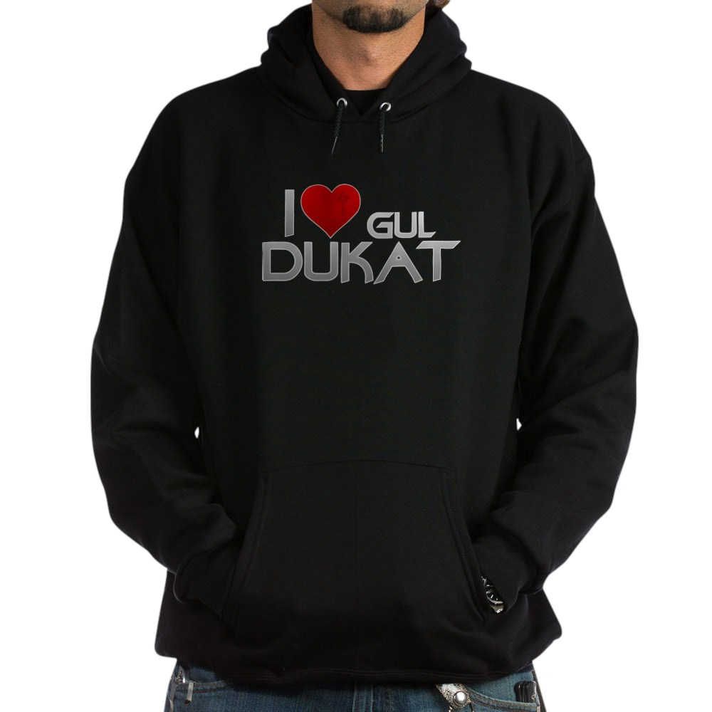 I Heart Gul Dukat Dark Hoodie